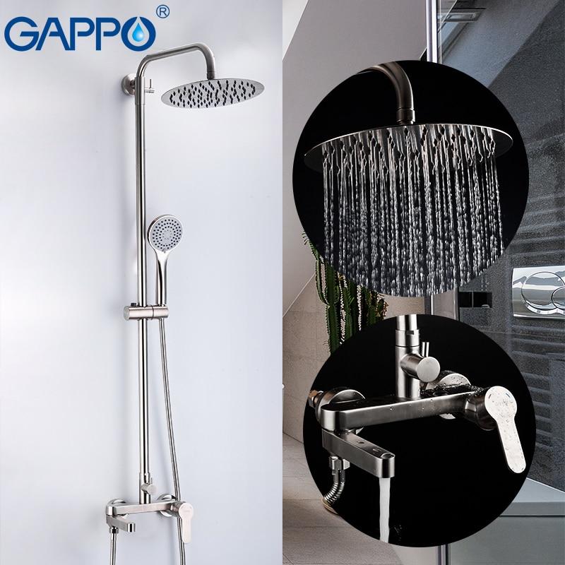 GAPPO Dusche Armaturen edelstahl bad dusche mixer system bad wasserhahn dusche set wasserfall dusche armaturen