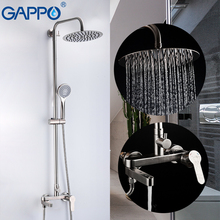 GAPPO Shower Faucets stainless steel bathroom mixer shower system bathroom faucet shower set waterfall shower faucets