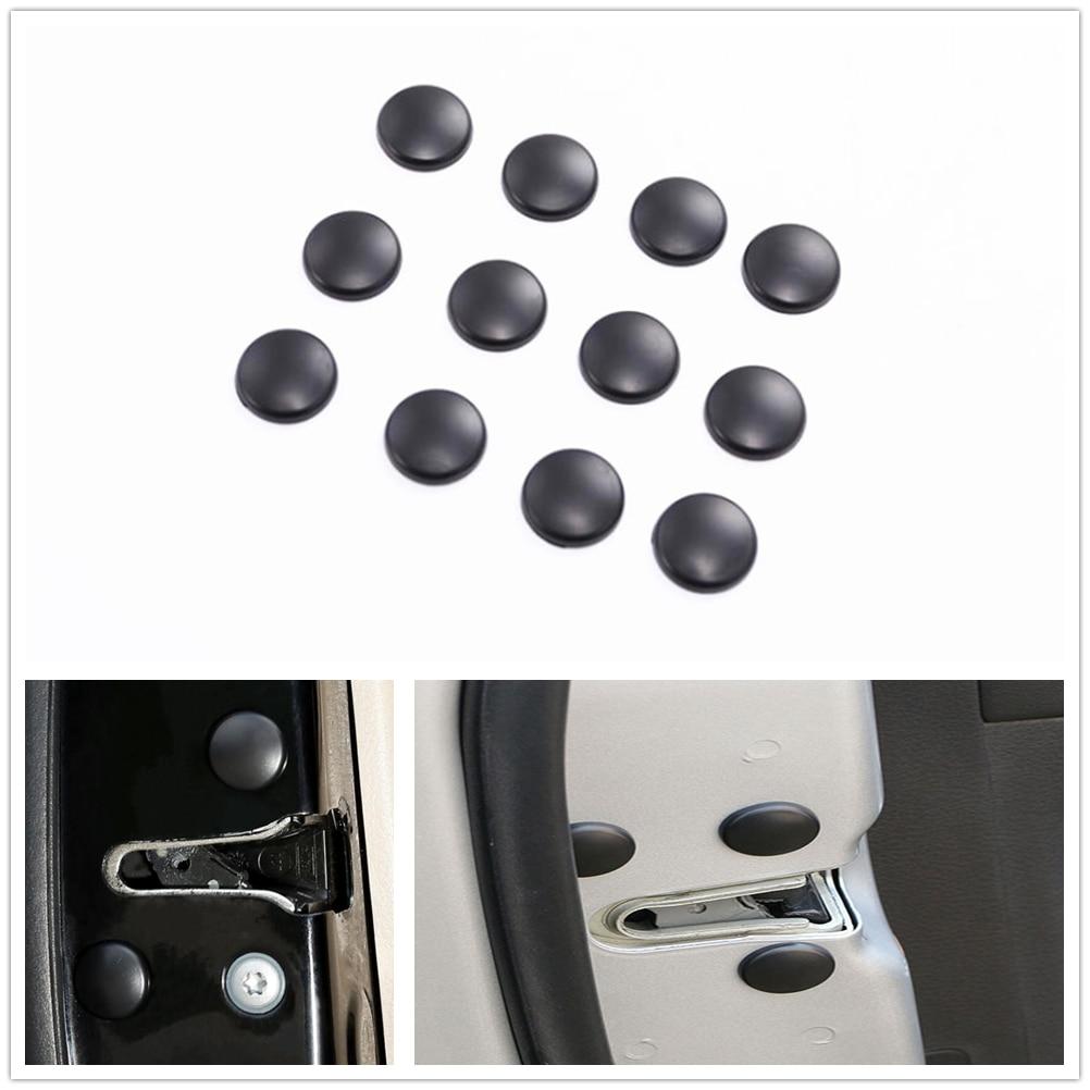 12PCS Door Lock Screw Protector Cover For lada vesta nissan x-trail t32 renault megane 3 kia sorento Lada Kalina bmw accessories