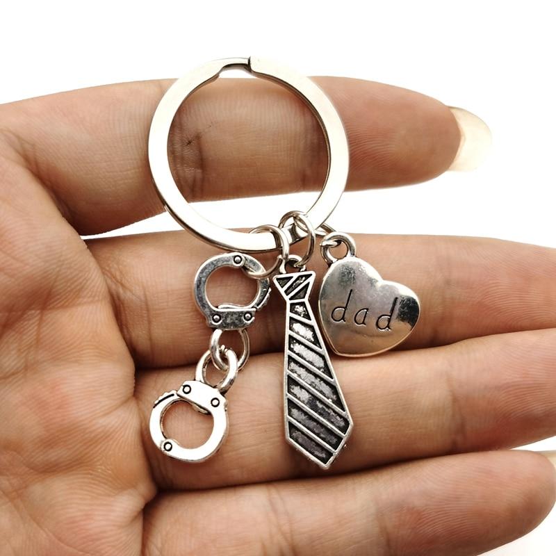 Personalizeds Polizei offizier Keychain Seargant keychain Detektiv keychain best Dad keychain Vater Tag Geschenk ihn handschellen charme