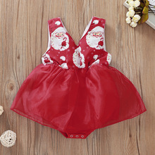 Baby Children Rompers Autumn Winter 2019 Christmas Grandfather Print Fresh And Cute Triangle Jumpsuit For Baby Girls Kids reima rompers 7796984 for children polyester winter
