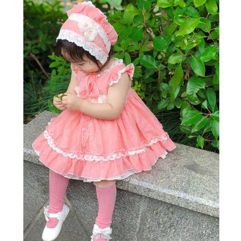 Girls Spanish Dress Spanish Baby Clothes Red Girls Summer Dress