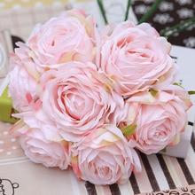 9cm9 layer 9 color rose head high-grade artificial flower fake wedding home decoration