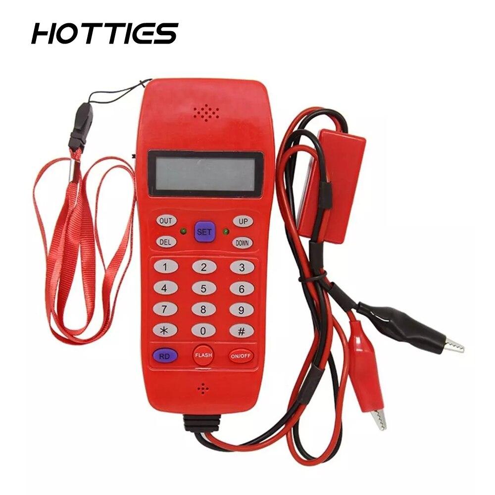 NF-866 телефонная линия кабельный тестер с экраном дисплея Tele волоконно-оптический инструмент проверка DTMF идентификатор звонящего