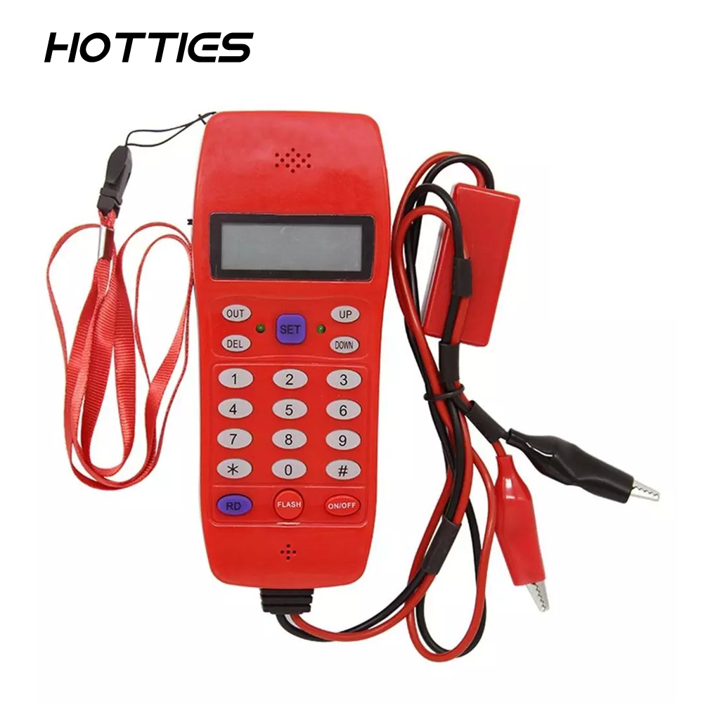 NF-866 Phone Line Cable Tester With Display Screen Tele Fiber Optical Tool Check DTMF Caller ID Auto Detection Search Machine