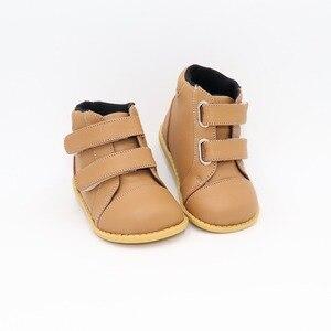 Image 3 - Tipsietoesブランド高品質の革のステッチキッズ子供ソフトブーツ学校の靴男の子2020秋冬雪のファッション