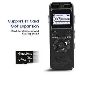 Image 4 - Enregistreur Audio activé par la voix numérique Dictaphone registraire MP3 HIFI stéréo 1536KPS WAV appareil denregistrement gris pour gris daffaires