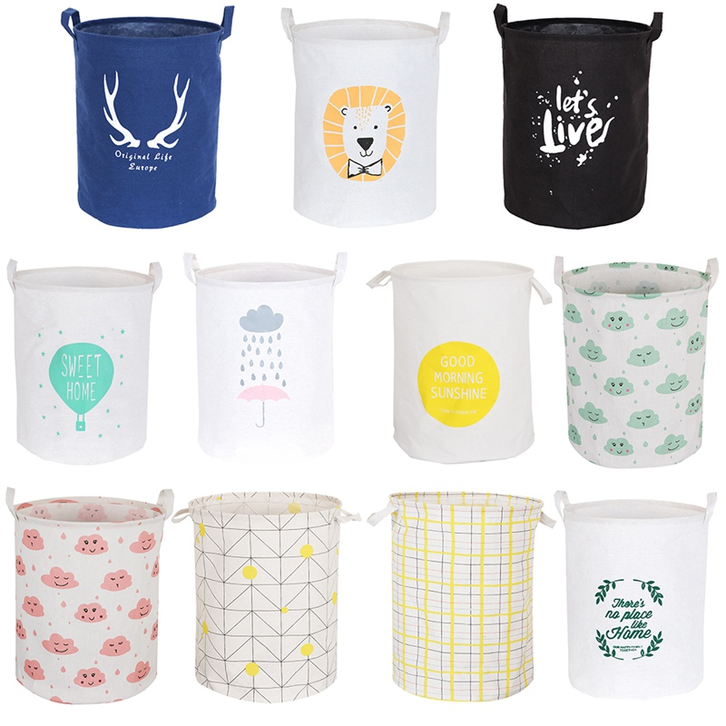 Collapsible Laundry Basket Toy Sundries Storage Box Bag Washing Dirty Clothes Baskets Organizer Laundry Hamper Bucket*a