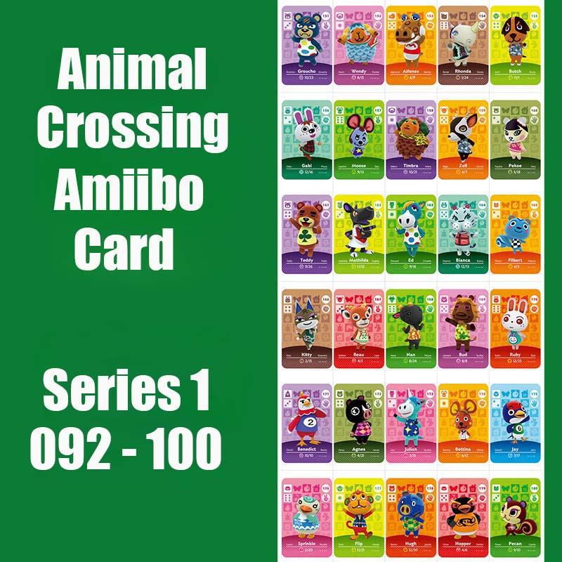 Series 1 #92-100 Animal Crossing Cards Amiibo Card Work For NS Games Series 1 Dropshipping Support Customized Card