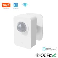 Tuya PIR Sensor de movimiento WiFi para Smart Life detección pasiva infrarroja, Detector de sistema de alarma de seguridad trabajo remoto con Alexa