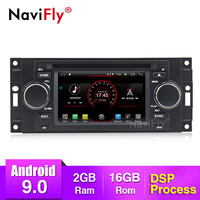 NaviFly Android 9.0 DSP Car Multimedia Player For Hrysler/300C/Dodge/Jeep/Commander/Compass/Grand Cherokee GPS Navi Head Unit BT