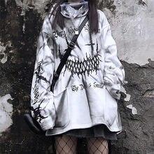Streetwear Harajuku – sweat-shirt imprimé amusant pour filles, blanc, mode Kpop japonaise, Street High Street, spécial printemps