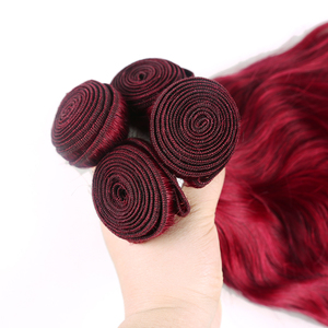 Image 5 - Tissage de cheveux brésilien Non Remy naturel ondulé rouge bordeaux/99J, 3/4 naturel, extension de cheveux humains, tissage en lots de 1/X TRESS