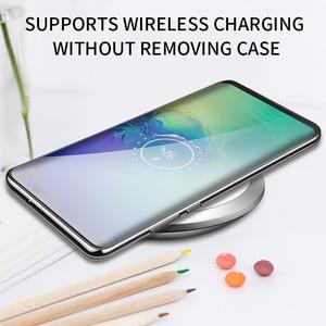 Image 5 - IHaitun luksusowe szklane etui do Samsung S10 Plus S10e etui Ultra cienka przezroczysta tylna pokrywa do Samsung Galaxy S10 + miękka krawędź