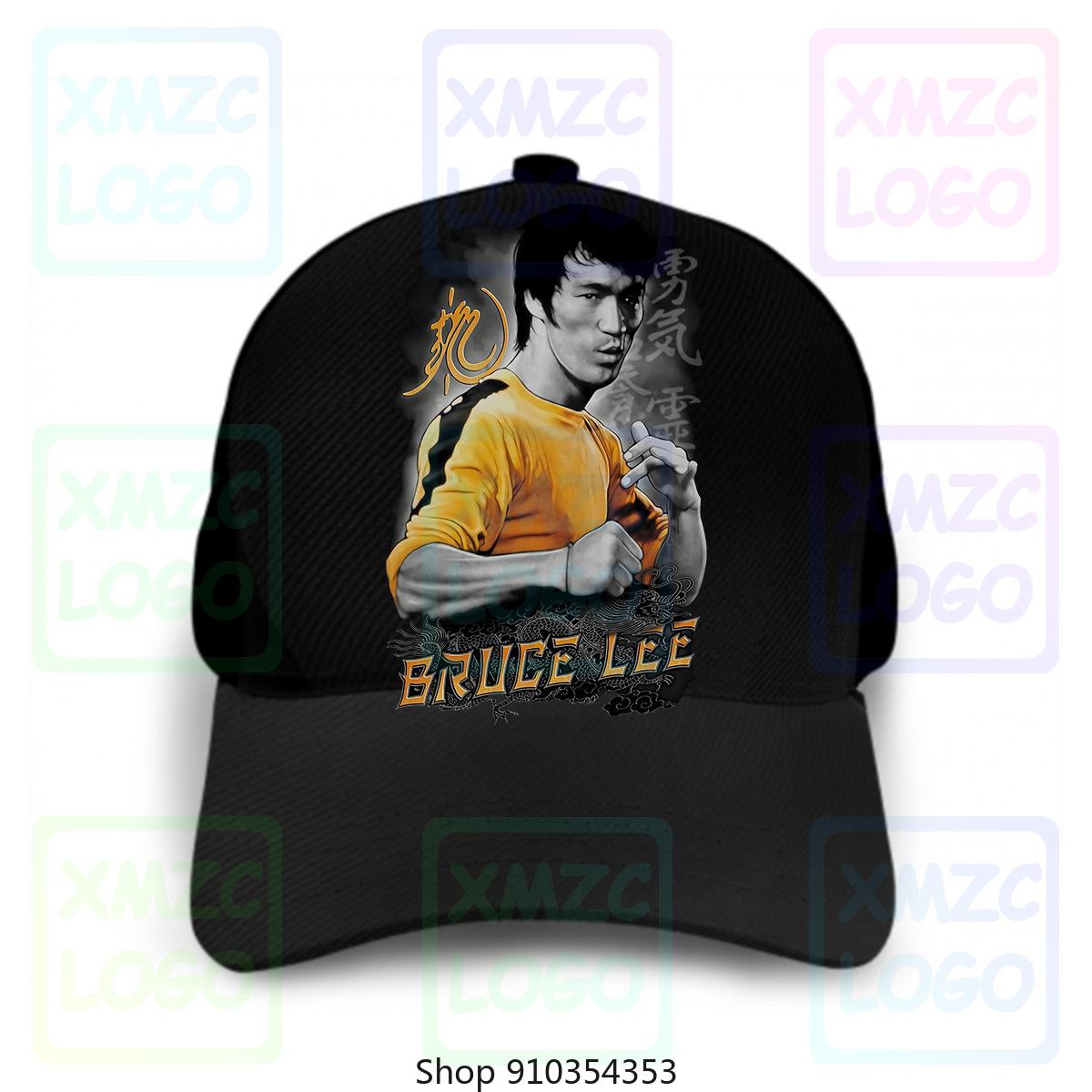 Analytical Bruce Lee Yellow Dragon Adult Atmungsaktives Baseball Cap Hats Women Men
