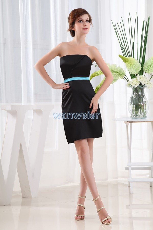 free shipping hot seller 2016 dress for party new design brides maid dresses vestidos formales short black sexy evening dresses