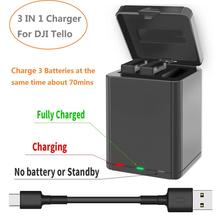 3 в 1 зарядное устройство Смарт зарядное устройство usb зарядное устройство коробка для DJI Tello Дрон батарея зарядное устройство концентратор наружное зарядное устройство аксессуар