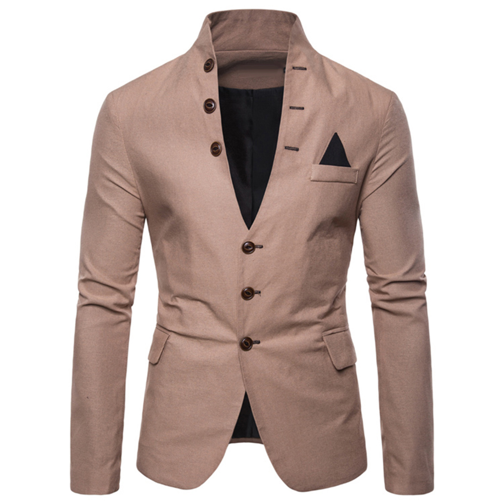 Men Sl-im Fits Social Blazer Spring Autumn Fashion Solid Wedding Dress Jacket Men Casual Business Male Suit Jacket Blazer Gentle
