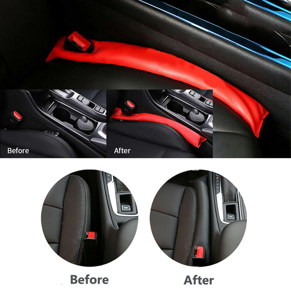 8X-SPEED For Ranger Car Seat Gap Filler Pad Prevent items from falling Gap Filler Pad Spacer Leakproof Protective Pad PU Leather Car Seat Slot Plug Pad 2Pcs Blue