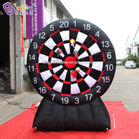 2.2m High Outdoor Inflatable Sticky Dart Board Inflatable Sport Game for Kids/Adult Family Party