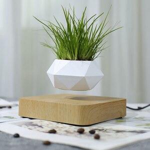 Image 1 - Magnetic suspension flower pot Levitating Air Bonsai Pot plant pot succulent pot patio decoration Desktop Flower/Green Plant