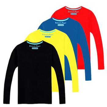3-15 odzież dziecięca z długim rękawem T-Shirt dla dzieci koszulki dla chłopców dla dziewczynek bawełniane jednolite topy Tee koszulki dziecięce koszulki ubranka dla dzieci tanie i dobre opinie Beloved Angel COTTON Aktywny Stałe REGULAR O-neck Tees Pełna Pasuje prawda na wymiar weź swój normalny rozmiar Unisex