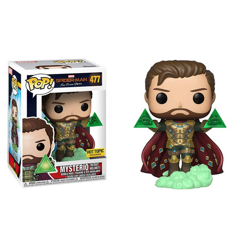 FUNKO POP Marvel toys figures spiderman far from home Mysterio action figure vinyl dolls children birthday gifts model with box