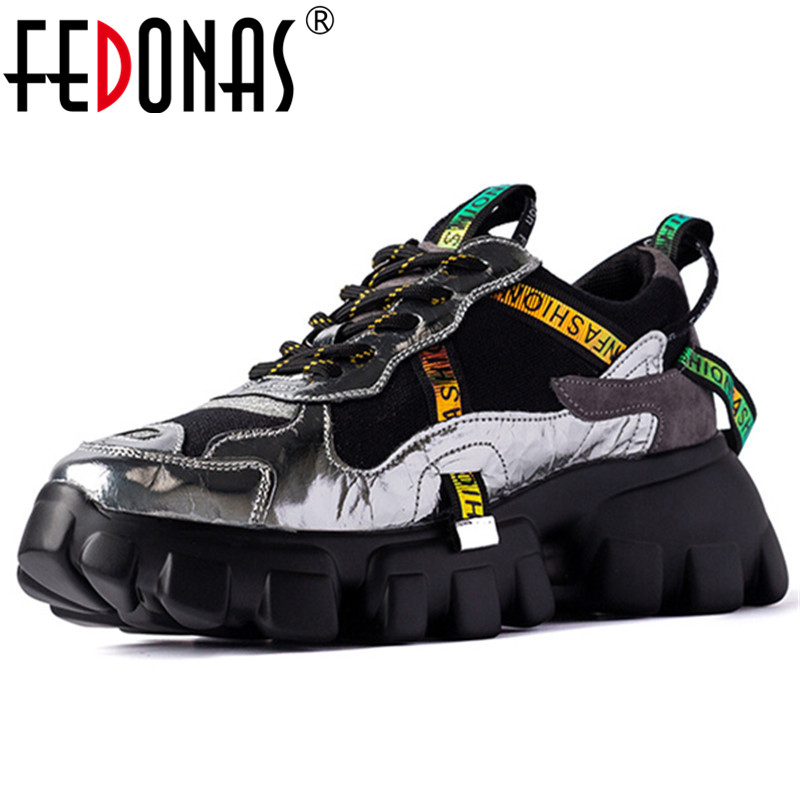 FEDONAS New Flats Platform Women Genuine Leather Sneakers Fashion Shallow Women Flats Casual Shoes Woman Comfortable Sports