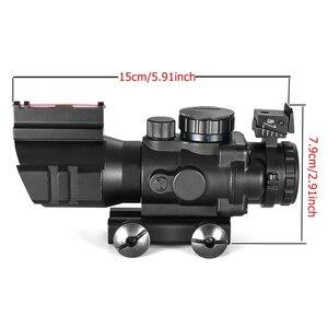 Image 3 - 4x32 Acog luneta 20mm jaskółczy ogon Reflex optyka zakres Tactical Sight dla polowanie Gun Rifle Airsoft Sniper lupa
