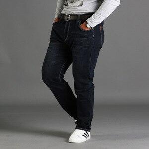 Image 4 - אביב עונה loose גדול גודל מכנסיים מכנסיים שחור בתוספת גודל XL למתוח ג ינס גברים של קיץ דק סעיף 48 46 44 42 40 38