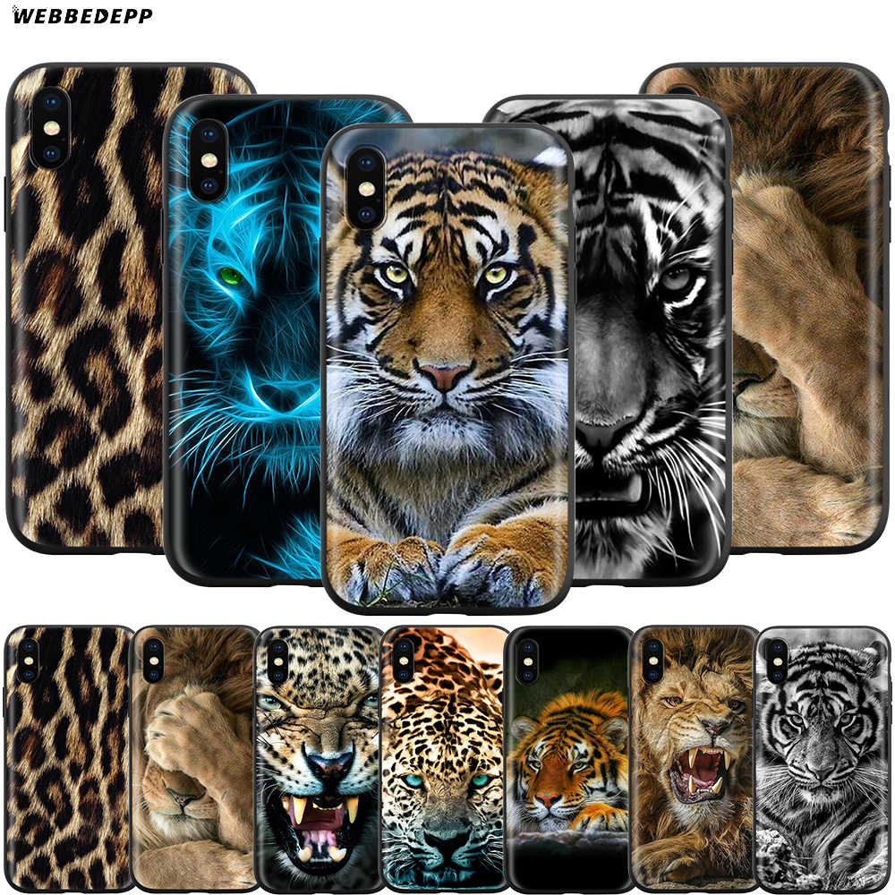 Webbedepp moda tygrys Leopard Case dla Apple iPhone 11 Pro XS Max XR X 8 7 6 6S Plus 5 5S SE