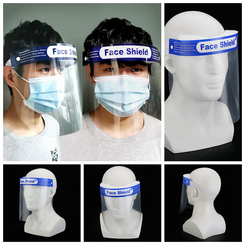 Protection Face Hat Helmet Anti Spittle Respirator Protective Shield Safety Masks Isolation Work With Mouth Mask For Men Women