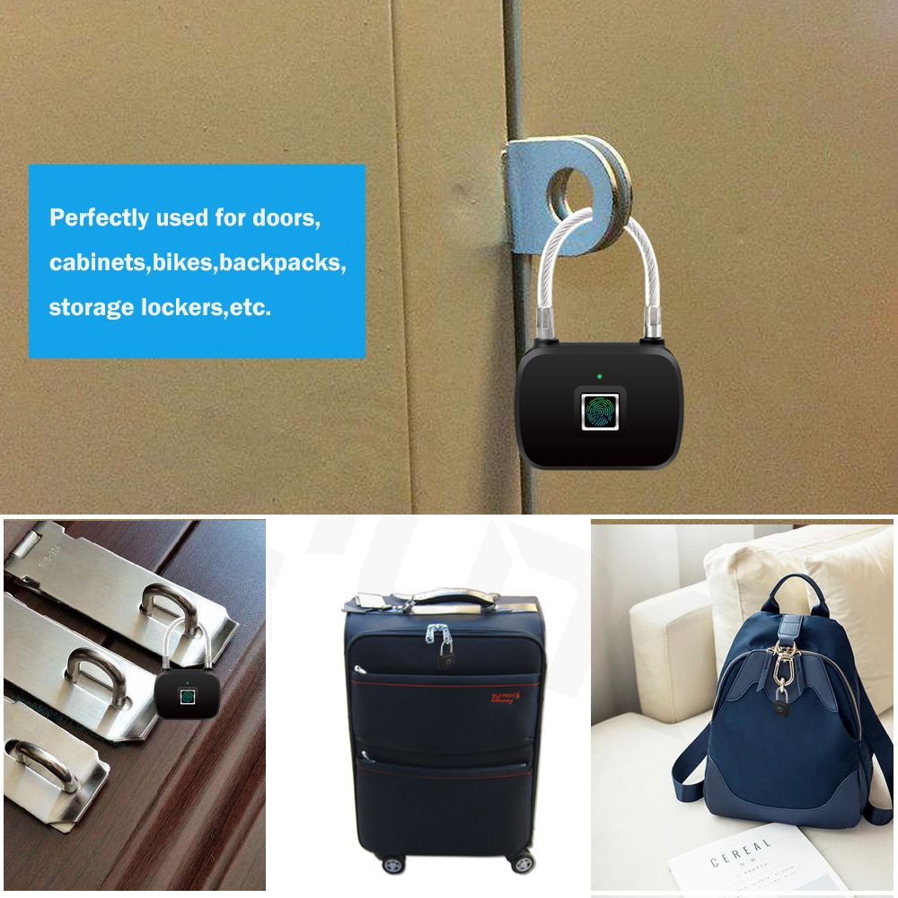 Image 5 - ZILNK Smart Fingerprint Lock Keyless Anti Theft  Security Electric Padlock IP65 Waterproof For Door Bag LuggageElectric Lock   -