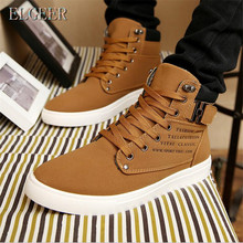 ELGEER new 2018 fashion microfiber PU warm Plus cotton ankle boots autumn winter boots men shoes Men snow boots botas masculina mycolen new fashion keep warm cotton ankle boots autumn winter motorcycle boots snow men shoes with zipper erkek bot ayakkabi