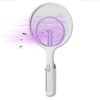 Elektryczny Swatter latać akumulator łapka na owady rakieta do tenisa 3 warstwy siatki ręczny łapka na owady do użytku wewnątrz i na zewnątrz do zwalczania szkodników tanie i dobre opinie 3-warstwowa 3000 V Electric Fly Swatter 2-4 Godzin Elektryczne 460*23028mm Kabel usb do ładowania