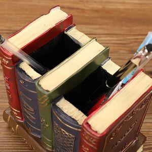 Image 5 - Sharkbang organizador de mesa, porta canetas vintage, de resina, organizador de mesa, ornamentos de papelaria para escola