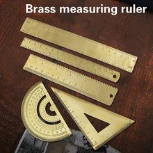 Régua triângulo onda régua de bronze do vintage transferidor escola crianças presente conjunto medida ferramentas 10-18cm régua acessórios de papelaria
