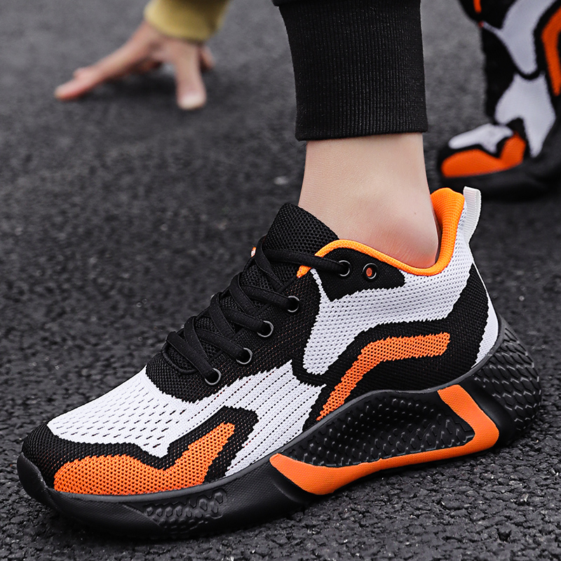 Shoes Men Sports Shoes 2020 New Fashion Outdoor Walking Sneakers Men Hit Color Breathable Running Shoes Sneakers Vulcanized Shoe