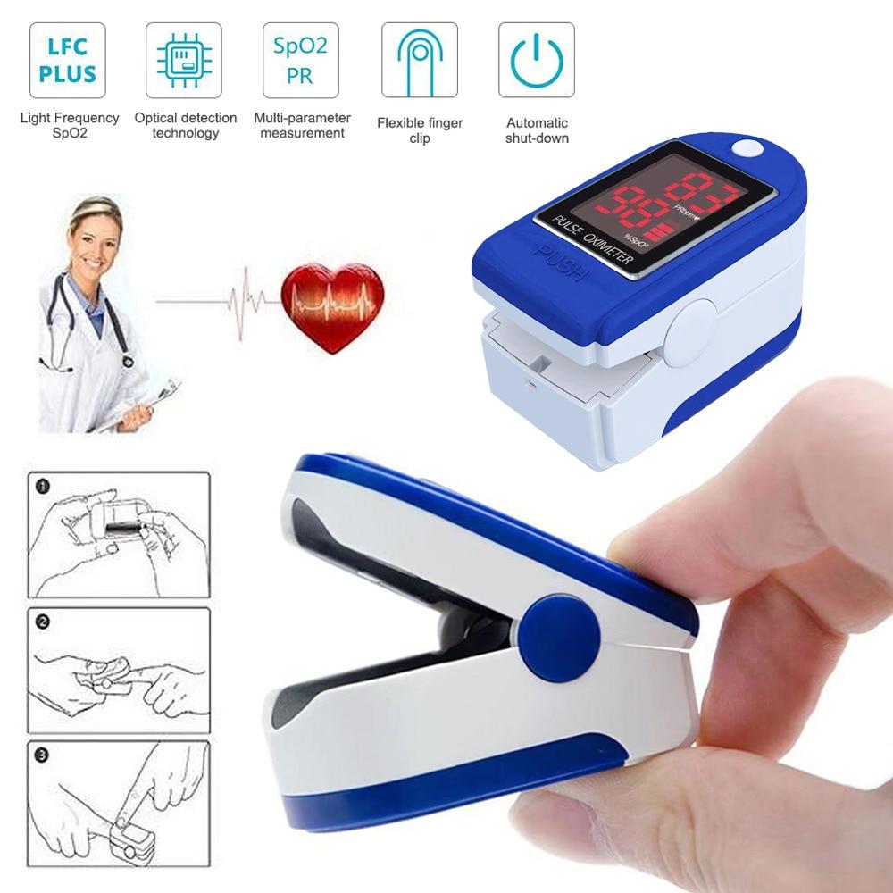 Portable Finger Oximeter Fingertip Pulsoximeter Medical Equipment With Sleep Monitor Heart Rate Spo2 PR Pulse Oximeter In Stock