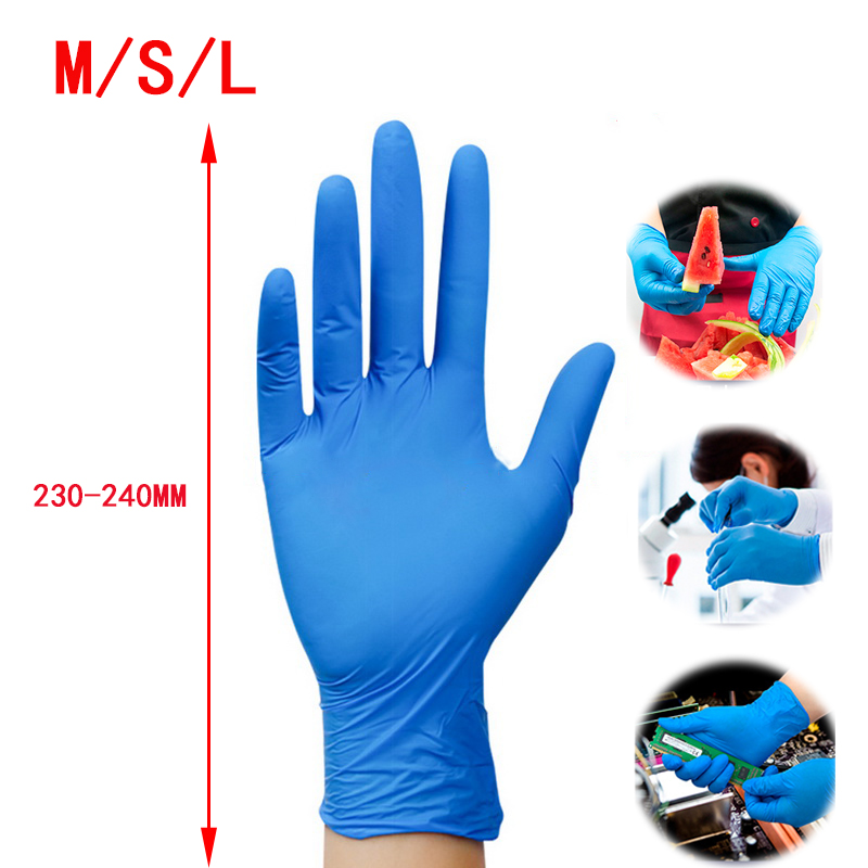 Disposable Work Gloves Black Antiacid And Alkali Anti-Static Protective Tattoo Nitrile Rubber Professional Nitrile Glove