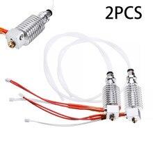 2 pces 12v impressora 3d v5 j-head hotend kit extrusora termistores cartucho aquecedor hotend para anycúbico i3 mega 3d extrusora impressora