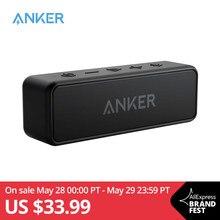 Anker-altavoz con bluetooth soundcore 2, altavoz portátil de sonidos graves con autonomía de 24 horas, con rango de bluetooth 66ft, a prueba de agua IPX7