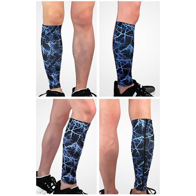 KUBUG กีฬาลูกวัว Leggings Breathable ความดันเข่า Pads สำหรับฟุตบอลบาสเกตบอลขี่จักรยานวิ่ง Elastic WARM ถุงเท้า 1 ชิ้น