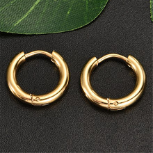 Korean Version Of GD Deer With The First Paragraph Tube Hoop Ear Ring  Punk Stud Earrings Mens Womens Jewelry