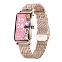 Reloj inteligente de moda para mujer, pulsera bonita con Dial personalizado, pantalla completamente táctil, resistente al agua IP68, Monitor de ritmo cardíaco