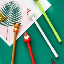 4 Pcs/Set gel pen Christmas stationery caneta cute pens for school Kawaii papeleria lapices plastic gel-ink canetas 4 pcs set gel pen cat caneta kawaii pens for school animal stationary canetas school supplies lapices tinta gel stylo