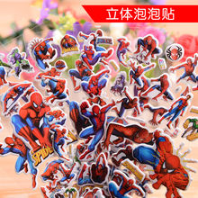 1pcs Spider-Man Reusable Puffy Stickers Party Favors for Boy Girl Kids Party Supplies Birthday Party Favors Treat Bag Filler(China)