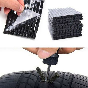100pcs Car Motorcycle Tyre Tubeless Seal Strip Plug Tire Puncture Repair Recovery Kit Tubeless Seal Strip Plug Tire Repair Tools car tire repair tools tubeless tyre puncture repair plug kit needle patch fix tools cement useful set