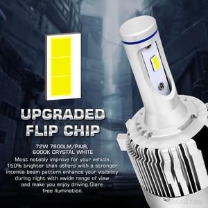 Image 2 - 2x G1 G2 7600Lm Car LED Canbus Headlight Driving Lamp Light Bulb Kit 72W DC9 36V For BMW Audi Benz VW Golf 6 7 Nissan
