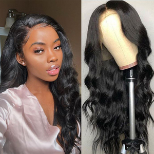 Black Pearl Brazilian Body Wave 360 Lace Frontal Wig Pre Plucked Huaman Hair Wigs 30 Inch Lace Front Wig For Women 180%